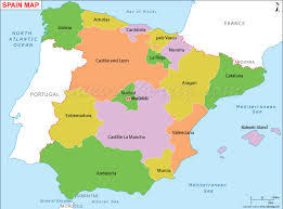 map of spain spain map map of spain mapa de espana
