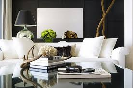 living room modern black and white living room decor and white