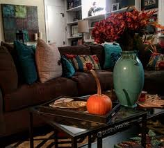 Earth Tone Colors For Living Room Rustic Fall Living Room Decor Earth Tones Fall Decor Turquoise