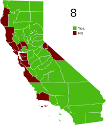 Blank Map California by California Proposition 8 2008 Wikipedia