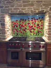 Stained Glass Backsplash by Poppies Grouted Mosaic Backsplash Mosaics And Kitchens