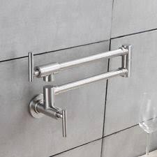 pot filler kitchen faucet brass brushed nickel pot filler kitchen faucet folding swing arm