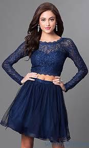 blue dress navy blue sleeve two homecoming dress