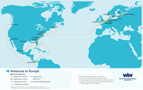 Latin And South America Map by Overseas Shipping Route Maps L Wallenius Wilhelmsen Logistics