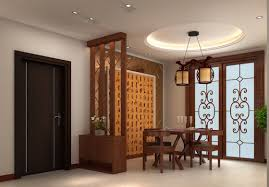 wooden partition dining room