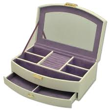 Personalised Jewelry Box Personalised Cream Jewellery Box With Mirror