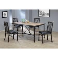 Rustic Oak Dining Tables Acme Furniture Caitlin Rustic Oak Water Resistant Dining Table