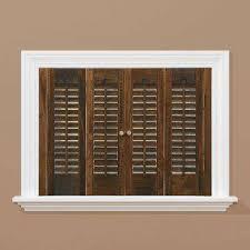 Wood Shutters Plantation Shutters The Home Depot - Home depot window shutters interior