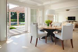dining table pendant light providence refectory dining table room transitional with light over