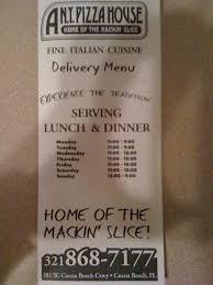 a new york pizza house menu menu for a new york pizza house