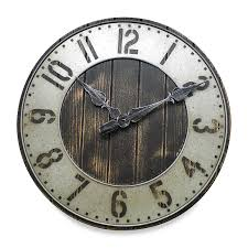 amazon com 20 in rustic punched metal wall clock home u0026 kitchen