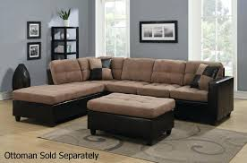 chaise interesting tan sectional with chaise for design ideas
