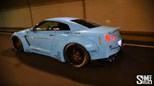 nissan blue paint code liberty walk sky blue godzilla gt r r35 w armytrix performance