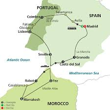 Portugal And Spain Map by Cosmos Tours Spain Portugal U0026 Morocco 2017