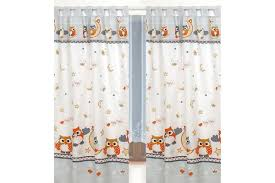 Owl Curtains For Nursery Curtains Nursery Tab Top With Tiebacks 9 Patterns To Choose
