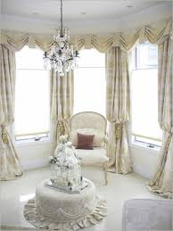 fantastic design ideas using round white fabric tables and cream motif loose curtains also with round