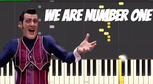 Piano Meme - we are number one lazy town meme piano tutorial free piano