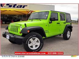 jeep unlimited green 2013 jeep wrangler unlimited sport s 4x4 in gecko green pearl