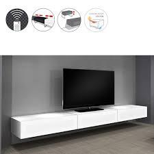 tv design mã bel væghængt tv bord med topplade i glas