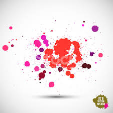 abstract artistic background of watercolor paint splash vector