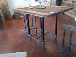 Industrial Bar Table Industrial Bar Table And Stools Pub Table With Two Stools Black