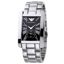 armani watches bracelet images Emporio armani ar0156 silver rectangular mens watch jpg
