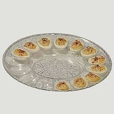 devilled egg plate deviled egg clear plastic cut platter set