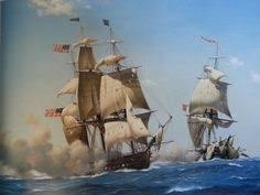 Armchair General Painting By Anton Otto Fischer Depicting The First Victory At Sea
