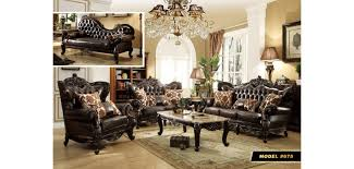 Brown Bonded Leather Sofa Dark Brown Tufted Leather Wood Trim Sofa Set 675