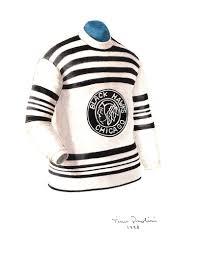 nhl chicago blackhawks 1926 27 uniform and jersey original art
