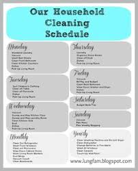 printable house cleaning schedule a weekly cleaning list i ve been doing this for a couple of weeks
