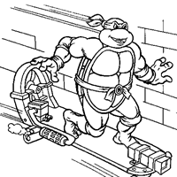 teenage mutant ninja turtles coloring pages kids network