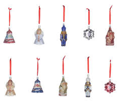 pacconi set of 10 classic vintage tin ornaments page 1