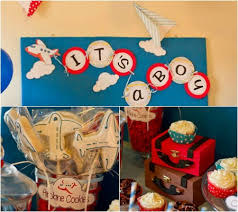 themed baby shower an airplane themed baby shower disney baby