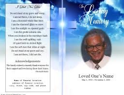memorial service programs templates free funeral program template free add customization service we