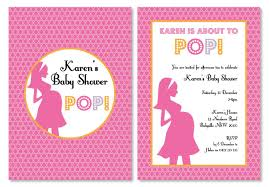 or baby shower about to pop pink personalised baby shower or baby party