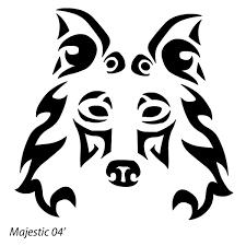 tribal wolf 2 by majestic2966 on deviantart