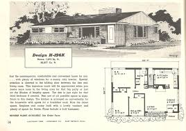 mid century modern house plan 1950 bungalow house plans homes zone endear 1950s plan