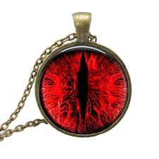 red necklace pendant images Evil red dragon eye necklace pendant with bronze chain jpg