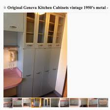 cherry picked 1950s geneva metal kitchen cabinets full set