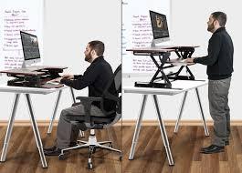Desk Risers For Standing Desk Sit Stand Desk Adjule Height Gas Spring Easy Lift Standing Desk