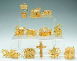 danbury mint 2003 gold ornament collection at