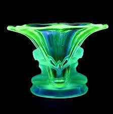 Colored Crystal Vases Uranium Glass Very Cool Glass U0026 Crystal Pinterest Glass