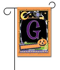Monogram Garden Flag Happy Halloween Monogram Garden Flag 12 5 U0027 U0027 X 18 U0027 U0027 Custom