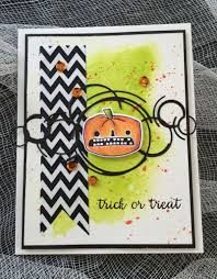halloween stamp sideshow clear stamp set