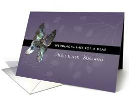 Wedding Wishes Box Niece U0026 Her Husband Wedding Wishes Butterfly Card 434670