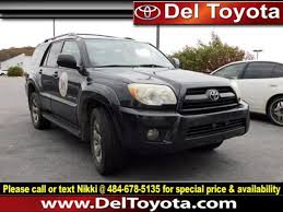 toyota 4runner 2006 for sale used 2006 toyota 4runner limited for sale serving thorndale