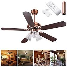 remote control reversible ceiling fans amazon com yescom 48 5 blades ceiling fan with light kit antique