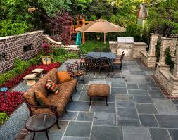 Summer Backyard Ideas Inspiring Tiled Flooring At Summer Backyard Ideas Decorated With