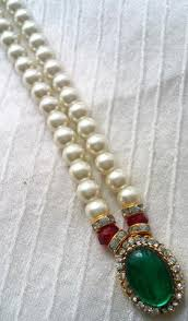 costume jewelry pearl necklace images Krishna costume jewelry 1 step pearl necklace kalanjali collections jpg